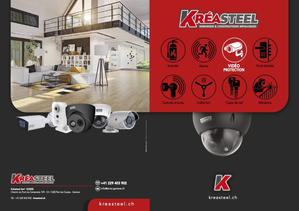 vente et installation de vidéo surveillance sur Genève et Lausanne